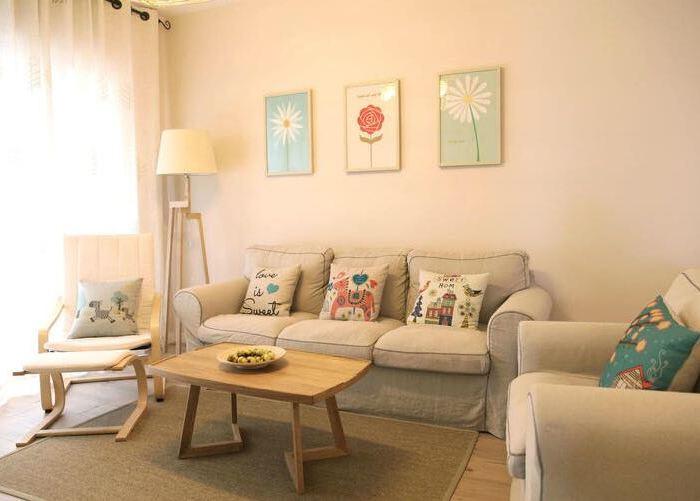 日韩风格-110平米三居室-装修样板间