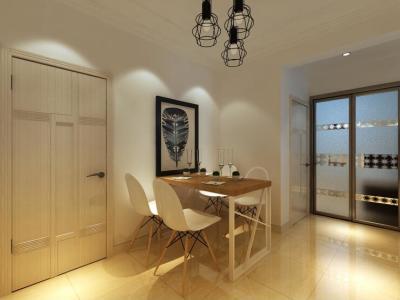 现代简约-80平米二居室装修样板间
