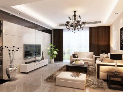 现代简约-100平米三居室装修样板间