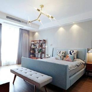 现代简约五居室装修效果图
