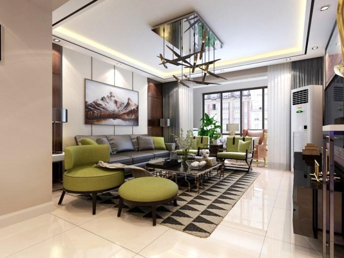 现代风格-150平米三居室-装修样板间