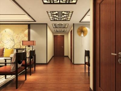 中式风格-182平米三居室装修样板间