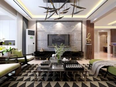 现代风格-150平米三居室装修样板间