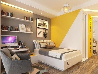 混搭风格-50平米一居室装修样板间