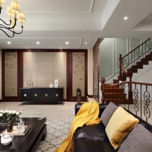 简约美式五居室客厅装修效果图
