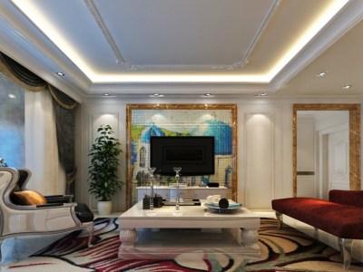 新古典风格-148平米四居室装修样板间