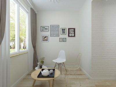 现代简约-0平米二居室装修样板间