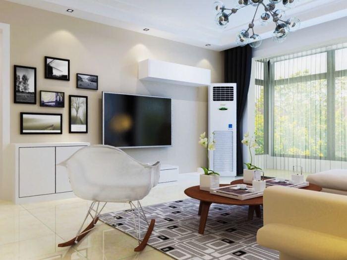 现代简约-121平米三居室-装修样板间
