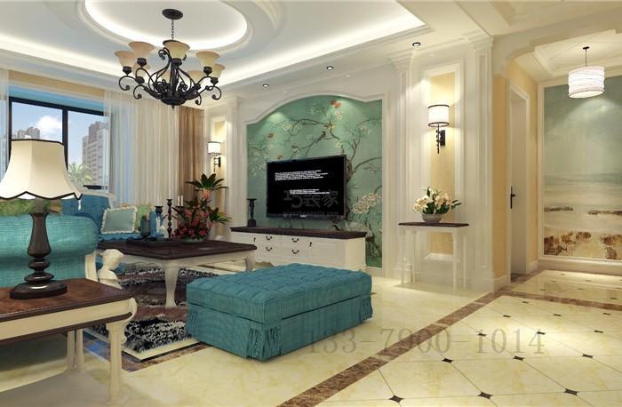 简欧风格-161.78平米四居室-装修样板间