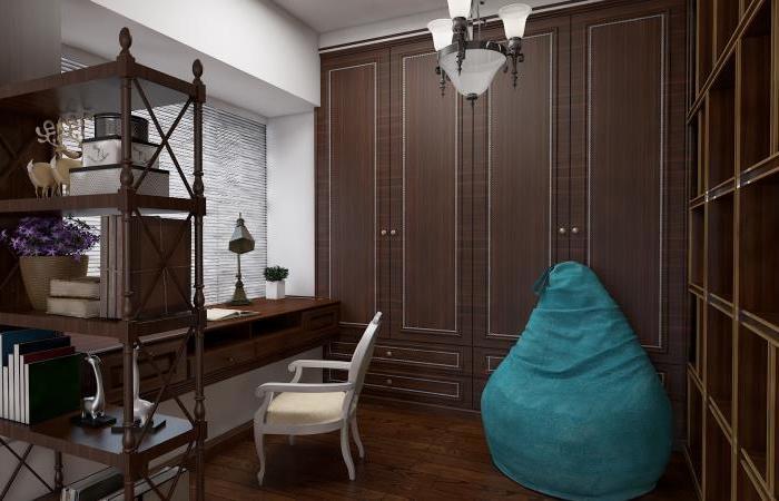 美式风格-140平米四居室整装-装修样板间