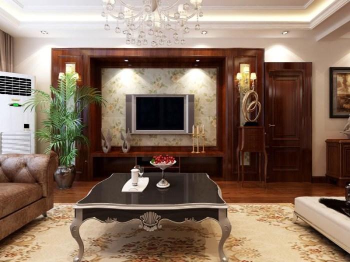 美式风格-121平米三居室-装修样板间