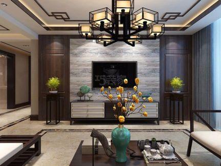 中式风格-185平米四居室装修样板间