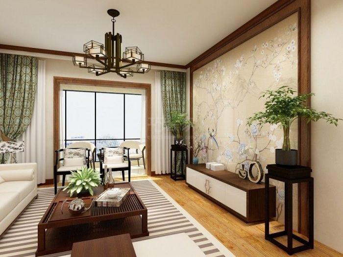 中式风格-127平米三居室-装修样板间