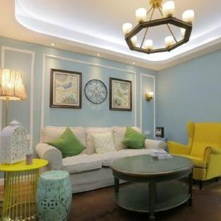 简美风格一居室装修效果图