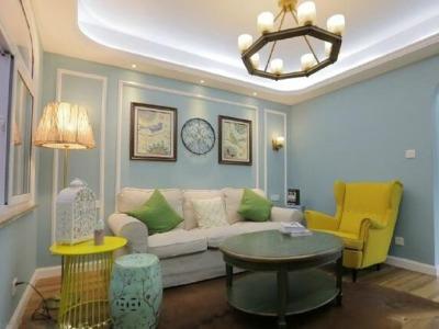 简美风格-66平米一居室装修设计