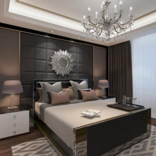 现代简约四居室卧室装修效果图