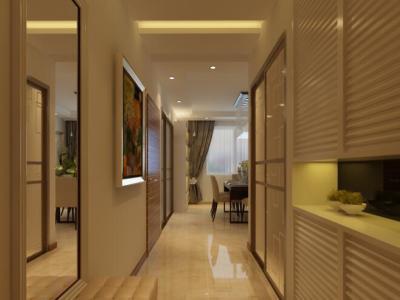 现代简约-99平米二居室装修样板间