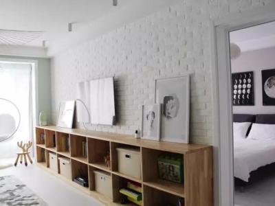 北欧风格-125.63平米三居室装修样板间