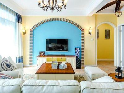 地中海风格-121平米三居室装修样板间