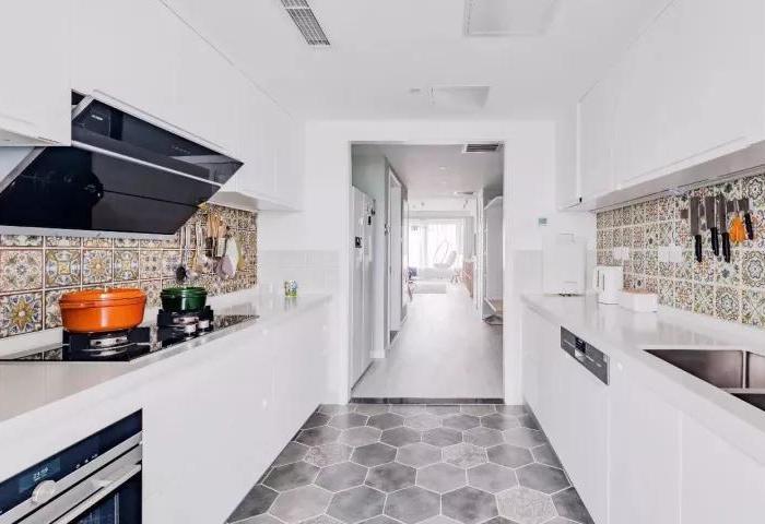 北欧风格-125.63平米三居室-装修样板间