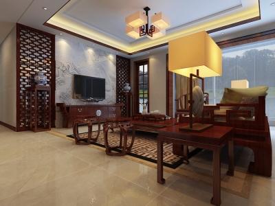中式古典-160平米四居室装修样板间
