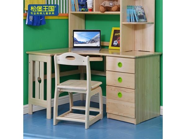 儿童书桌转角实木写字桌家用简约学生学习桌