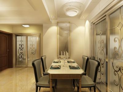 现代简约-100平米二居室装修样板间