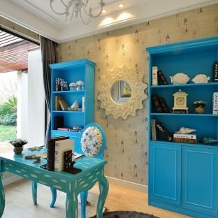 新古典风格三居室书房装修效果图