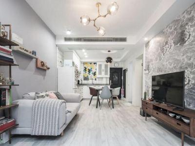 北欧风格-60.91平米一居室装修样板间