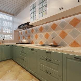 欧美风情二居室厨房装修效果图