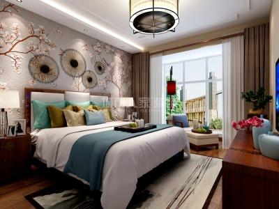 新中式风格-156平米四居室装修样板间