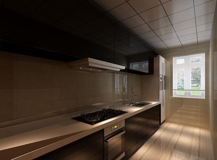 现代简约-110平米三居室-装修样板间
