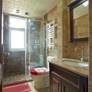 欧美风情三居室卫生间装修效果图