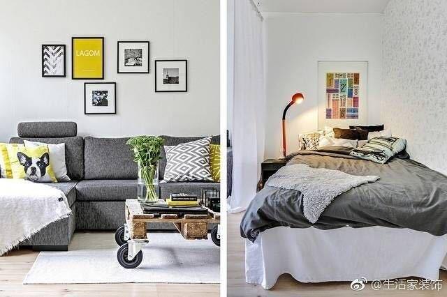 现代简约-89平米一居室-装修样板间