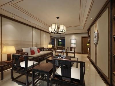 新中式风格-165平米四居室整装装修样板间