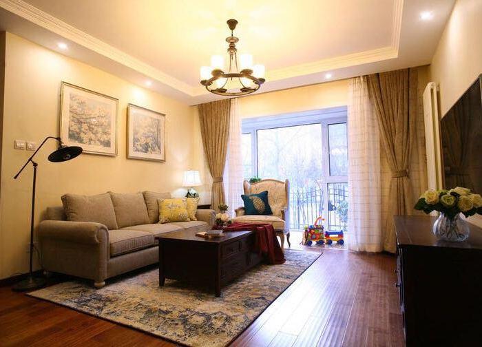 美式风格-0平米三居室-装修样板间