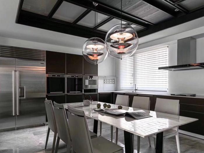 经典黑白灰-122平米二居室-装修样板间