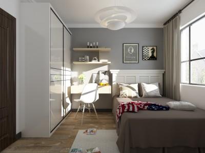 现代简约-116平米三居室装修样板间