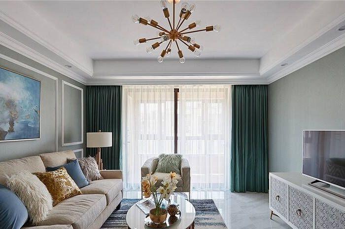 简约美式-110平米二居室整装-装修样板间