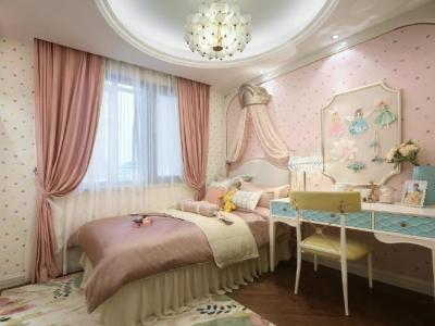 欧美风情-143平米三居室整装装修样板间
