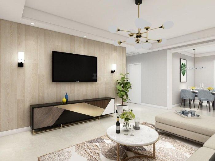 北欧风格-106平米二居室-装修样板间