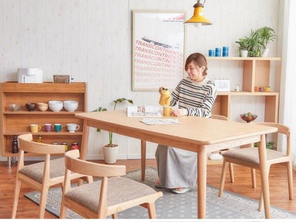 源木智造 北欧极简日式风格实木一桌四椅 外贸出口小清新