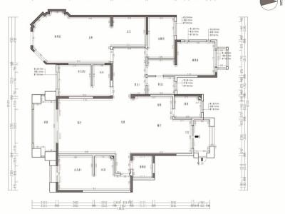 简欧风格-252平米五居室装修样板间