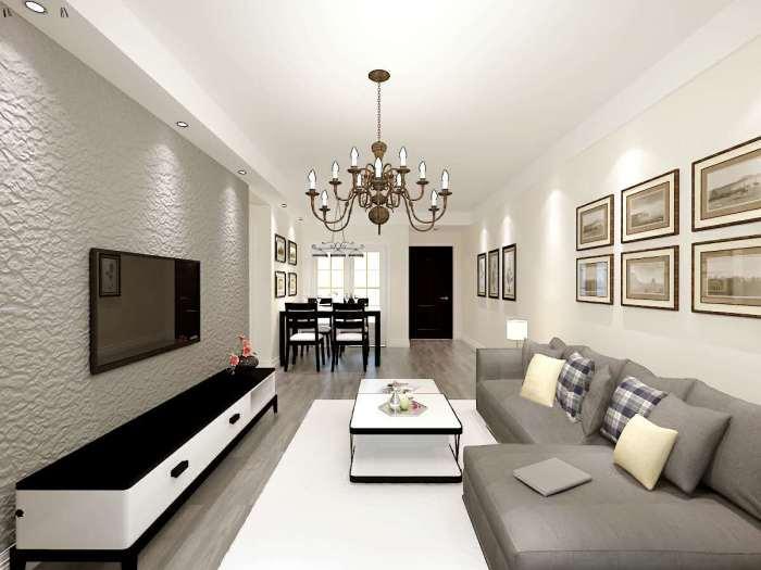 现代风格-85平米二居室-装修样板间