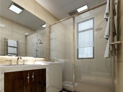 美式风格-110平米三居室装修样板间