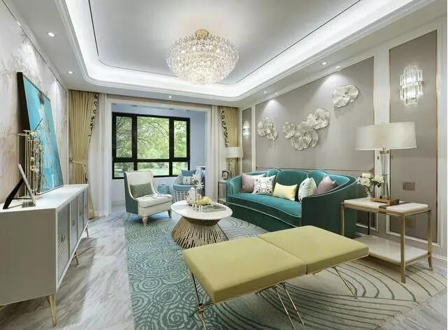 简欧风格-110平米三居室-装修样板间