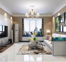 北城国际88平两室两厅现代简约