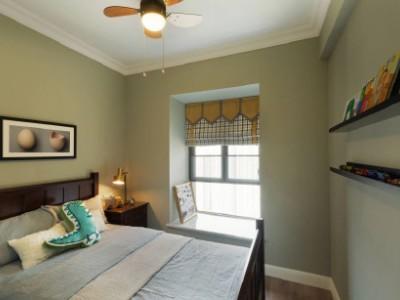欧美风情-98平米二居室装修样板间