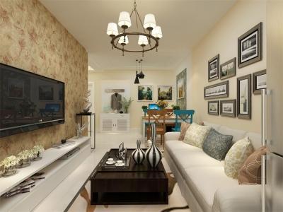 现代简约-56平米一居室装修样板间
