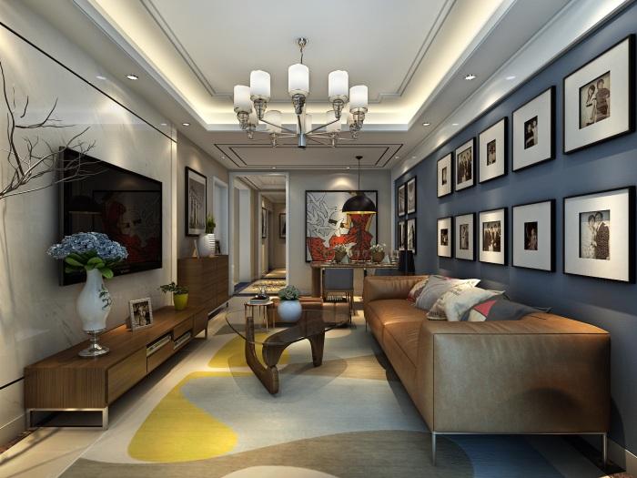 现代风格-89平米三居室-装修样板间